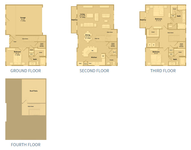 2,611 sq. ft. T2D floor plan