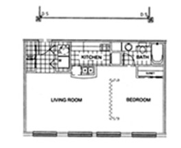 620 sq. ft. G floor plan