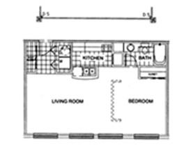 620 sq. ft. G floor plan