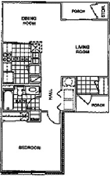 760 sq. ft. 60% floor plan