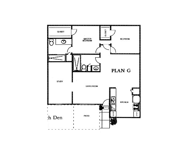 1,239 sq. ft. SAGE floor plan
