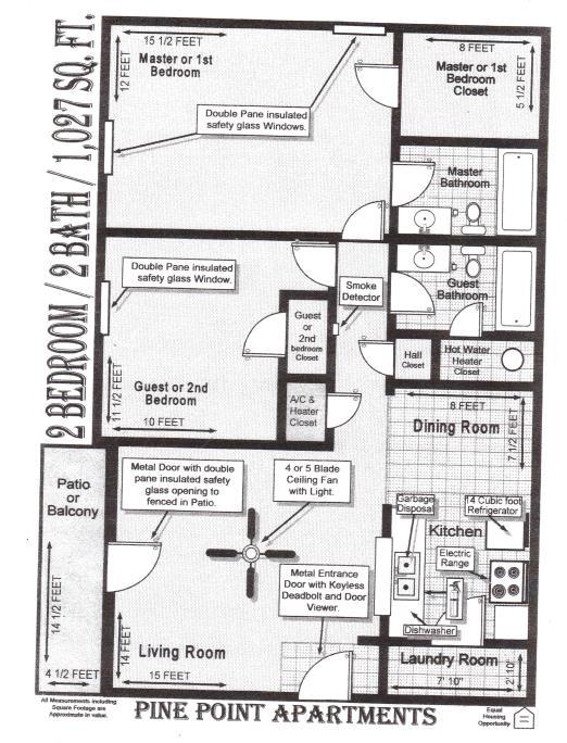 1,027 sq. ft. floor plan
