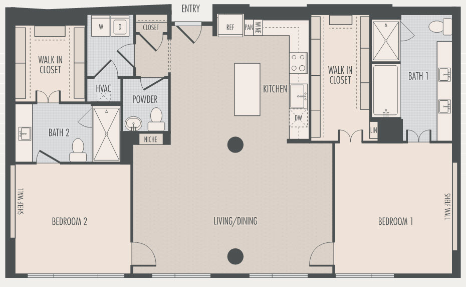 1,849 sq. ft. B5.1 floor plan