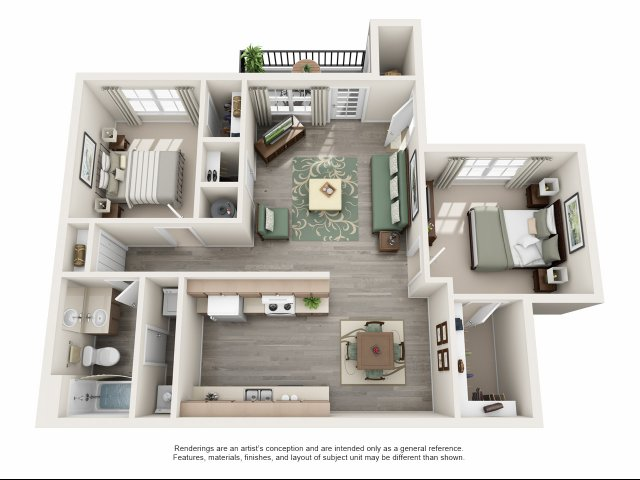 914 sq. ft. A floor plan