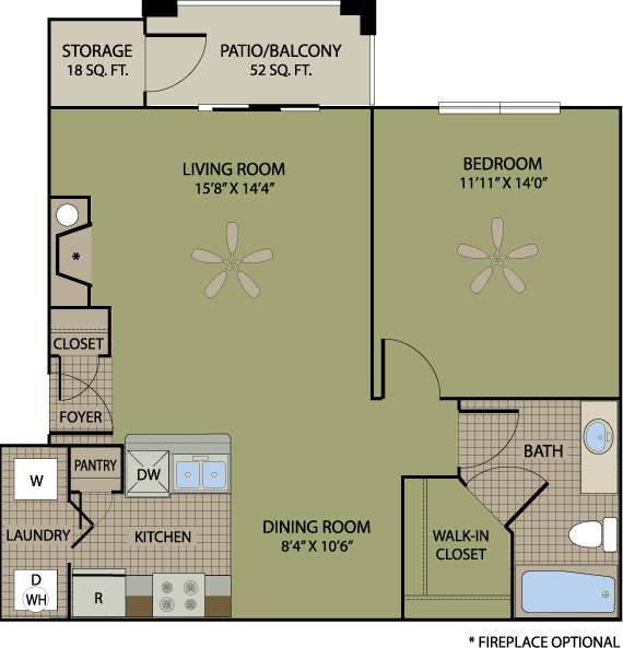 751 sq. ft. Pinot floor plan