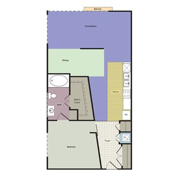 902 sq. ft. MIRAMAR floor plan
