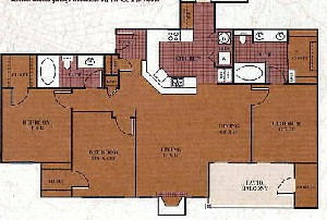1,286 sq. ft. C1/NAVARRO floor plan