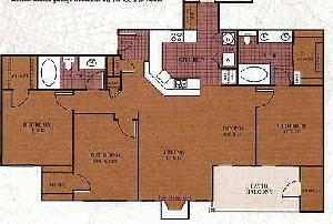 1,286 sq. ft. C1/Navarro floor plan