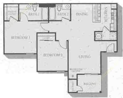 1,066 sq. ft. Lexington floor plan