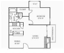 774 sq. ft. A4 floor plan