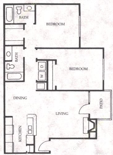 997 sq. ft. Bronco floor plan