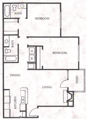 997 sq. ft. Bronco floor plan