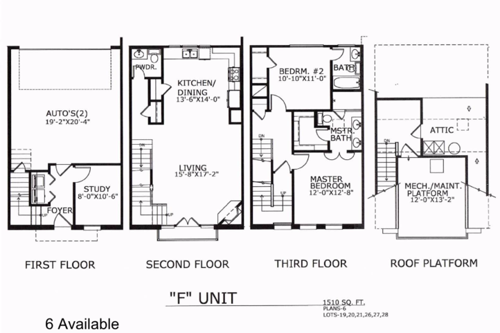 1,510 sq. ft. F floor plan