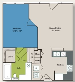 675 sq. ft. A4 floor plan