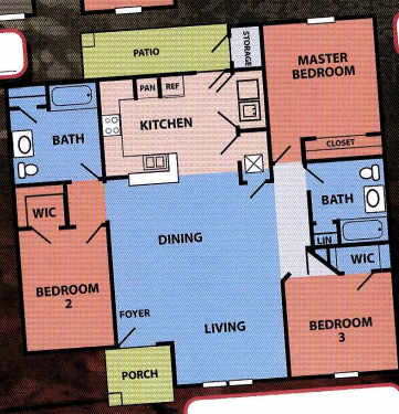 1,372 sq. ft. 50% floor plan