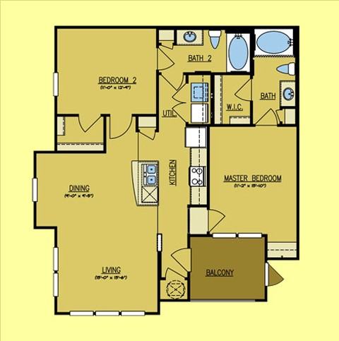 1,053 sq. ft. Rio Bravo floor plan