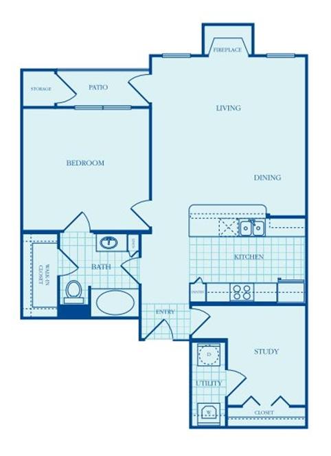965 sq. ft. Bradford floor plan
