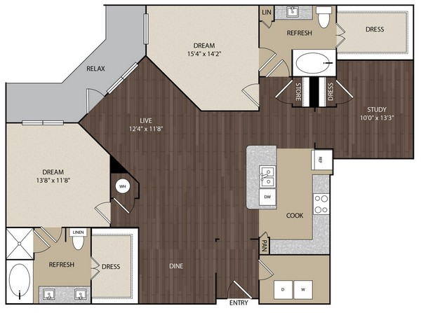 1,676 sq. ft. B4 floor plan