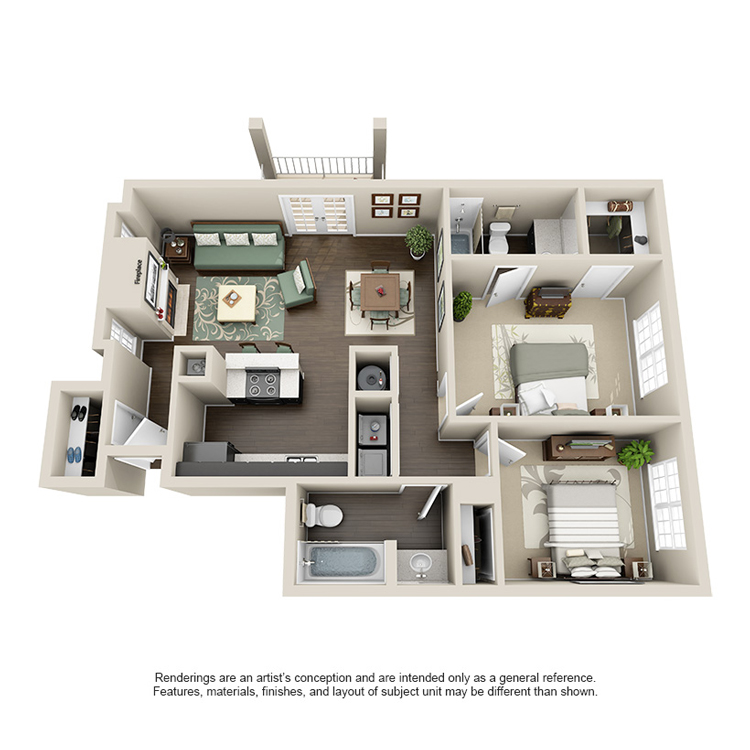 947 sq. ft. G floor plan