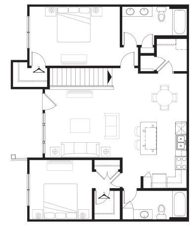 1,185 sq. ft. Grand Overlook floor plan