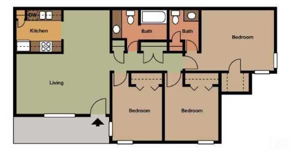 1,016 sq. ft. floor plan