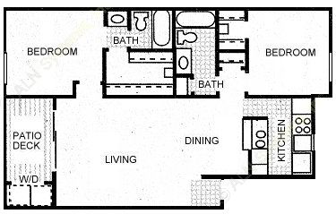 918 sq. ft. BRAZOS floor plan