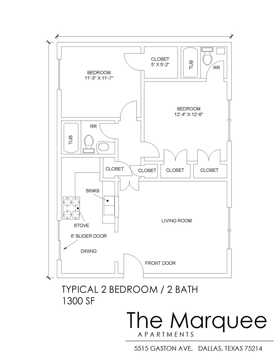 960 sq. ft. B4 floor plan