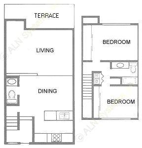 1,094 sq. ft. floor plan