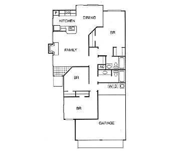 1,243 sq. ft. NEW HOME floor plan