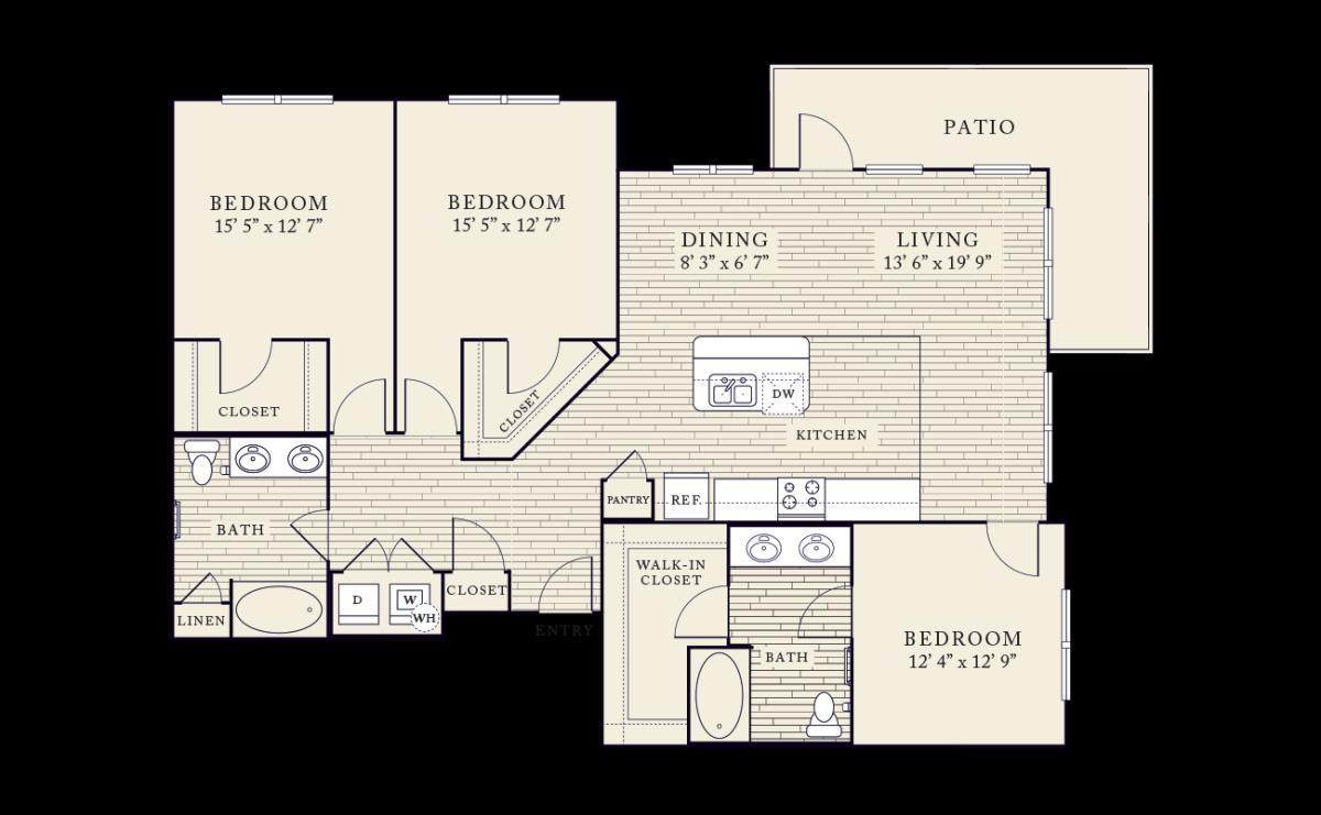 1,550 sq. ft. floor plan