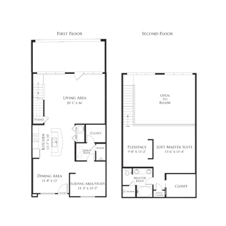 1,519 sq. ft. 2AS4.2 floor plan
