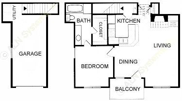 704 sq. ft. A4-GAR. floor plan