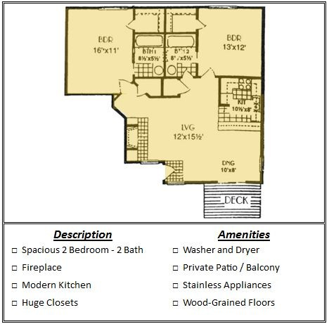 929 sq. ft. Mkt floor plan